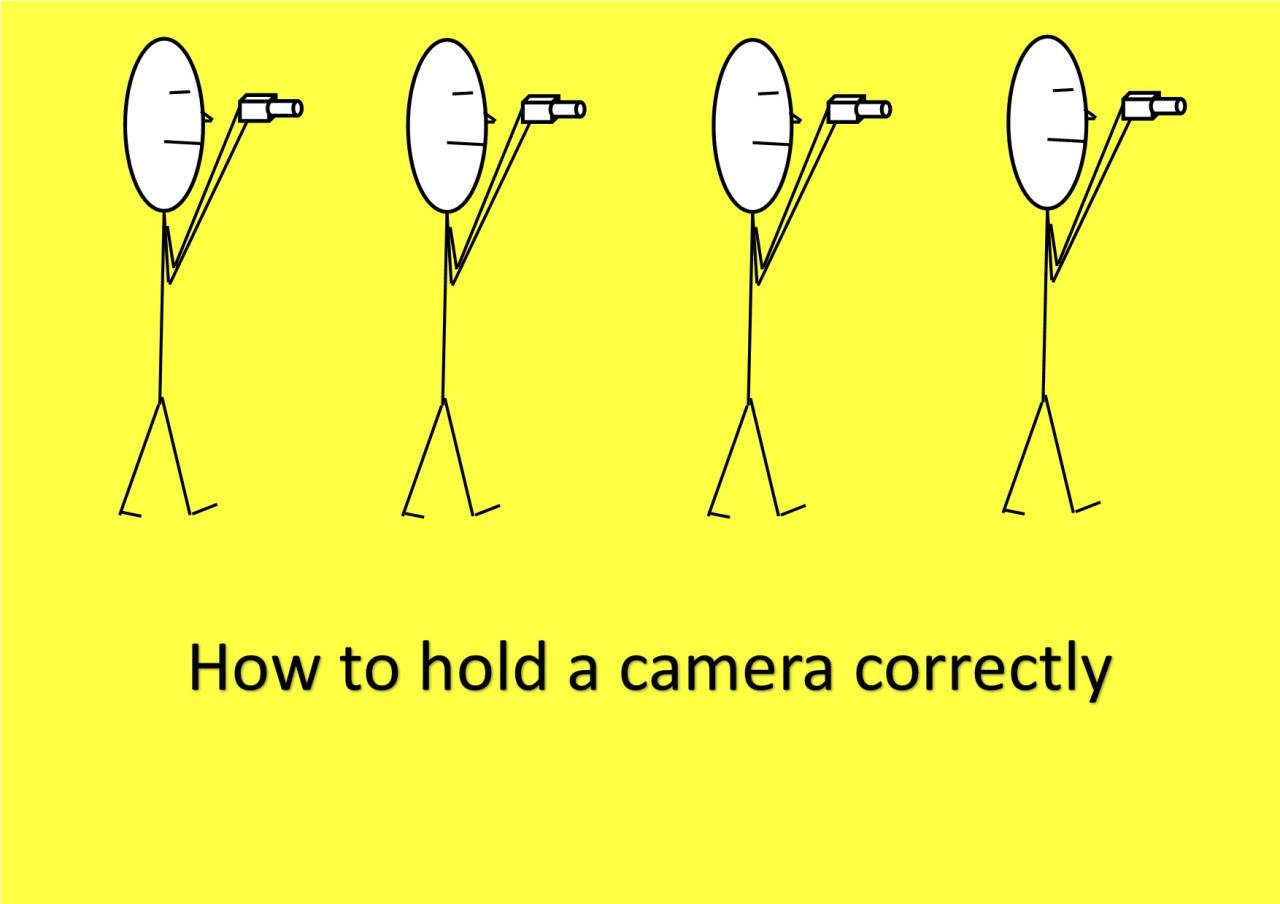 How to hold a cameracorrectly