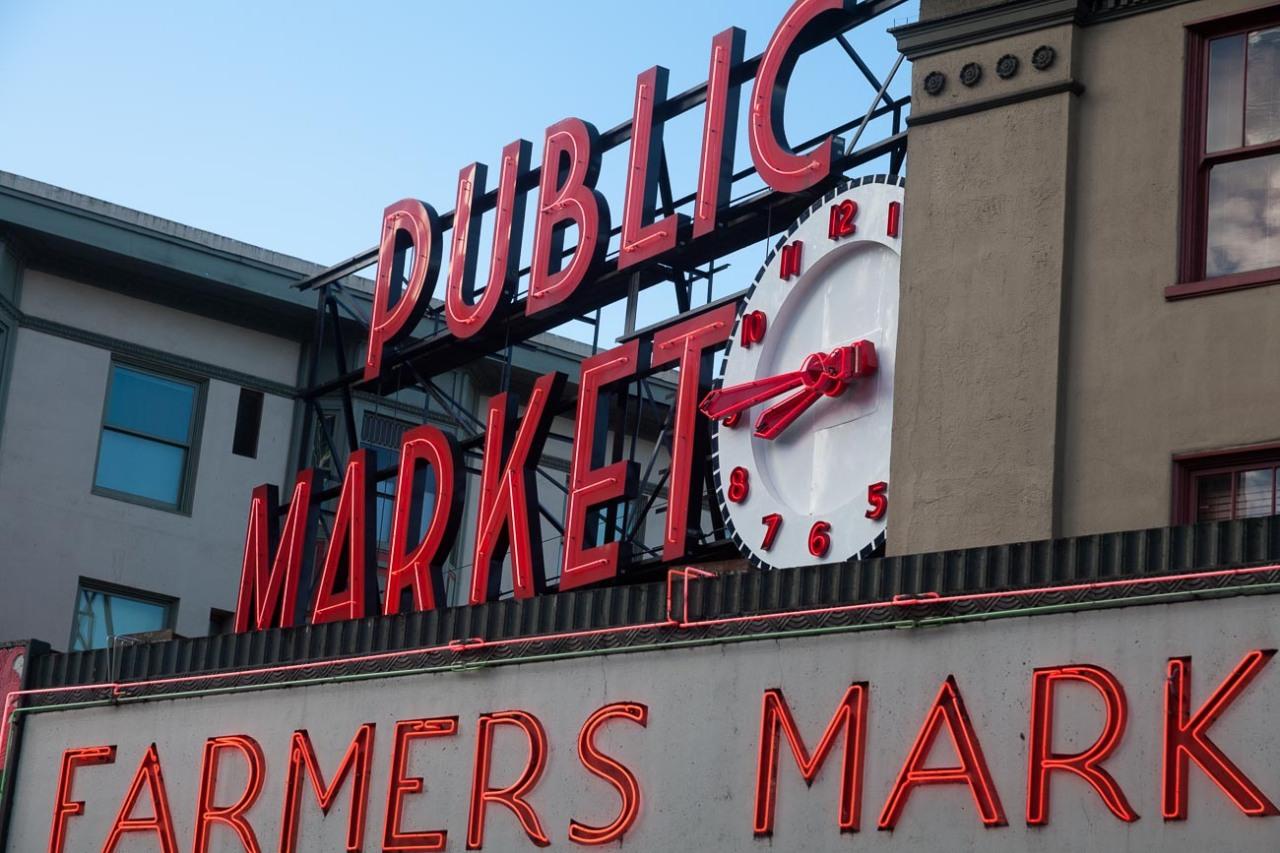 Pike Place markets in Seattle, Washington, USA