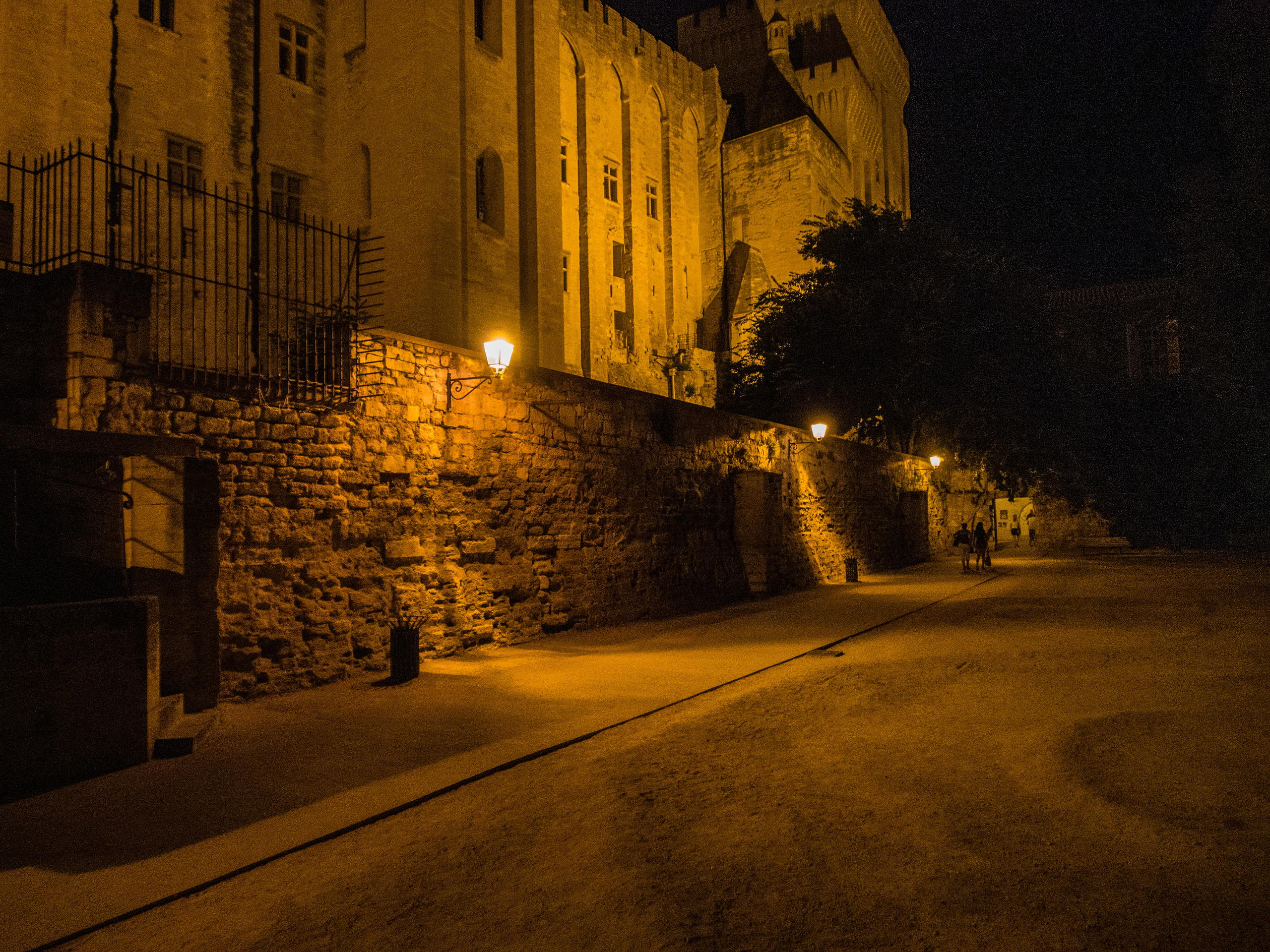 An alley along the side of the Palais des Papes, Avignon, France