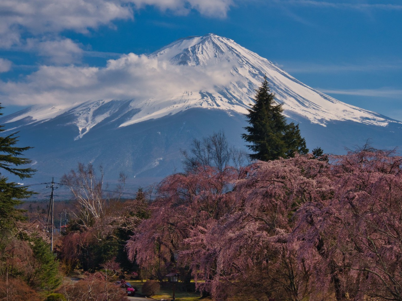 Mount Fuji from the Lake Kawaguchi-Ko area