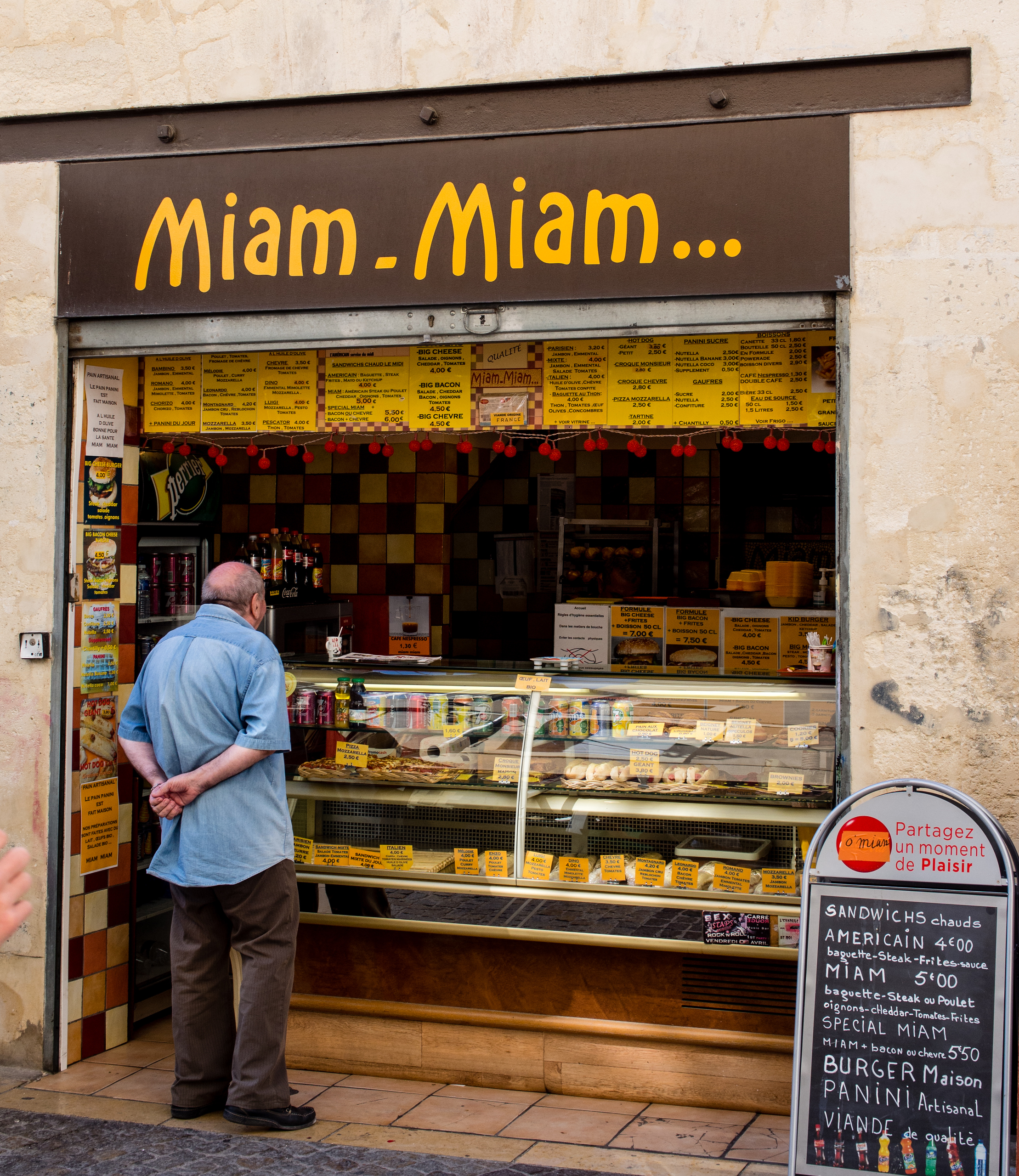 Miam Miam in the historic and graceful city of Avignon, Provence, France.
