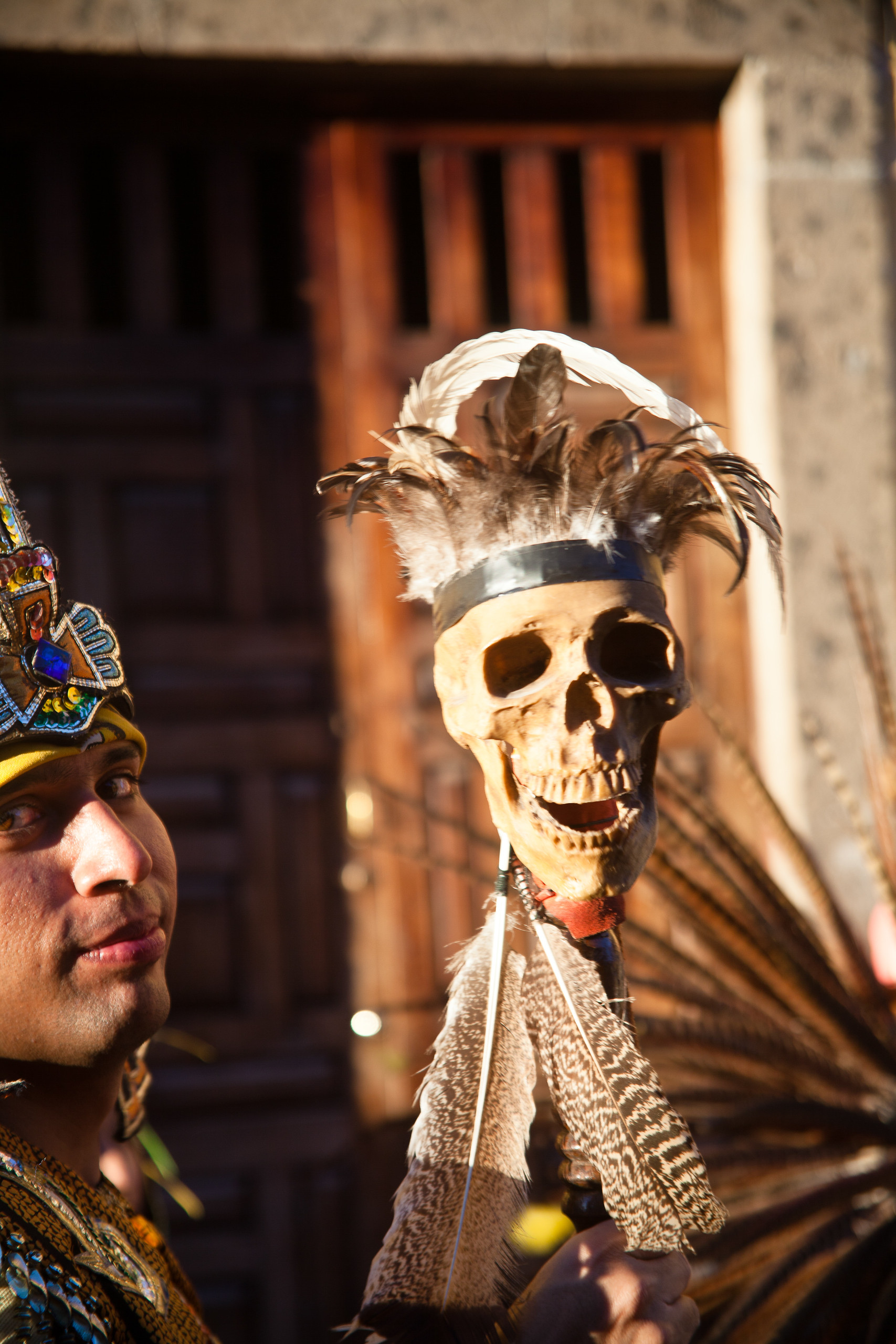 At the Day of the Dead festival in San Miguel de Allende