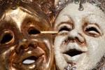 Burano masks in Burano's main square