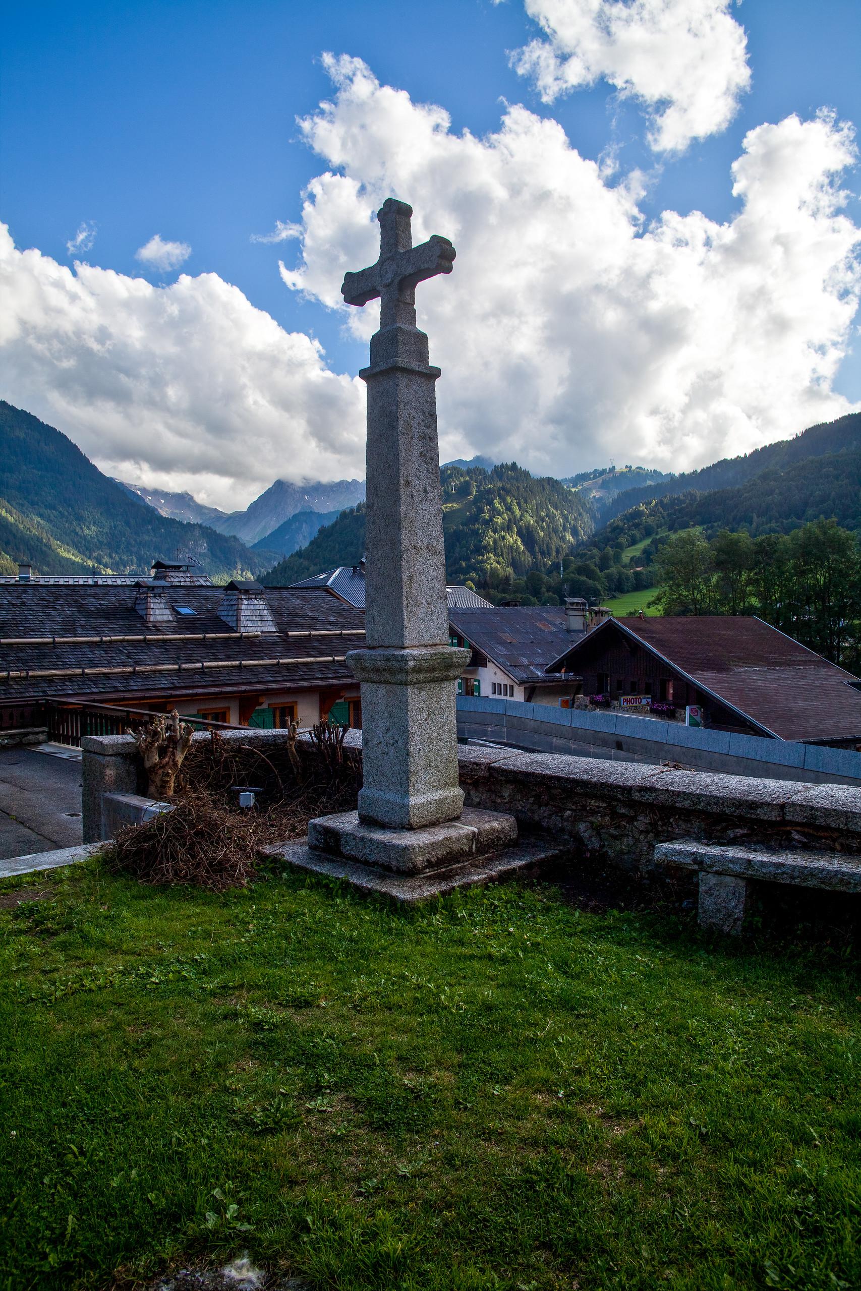 Church Cross at Les Contamines, France